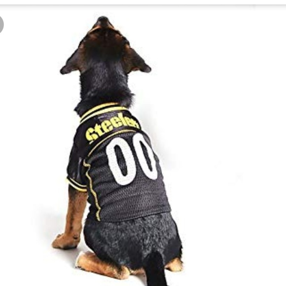 check out 11d46 8ab15 Steelers dog jersey size large